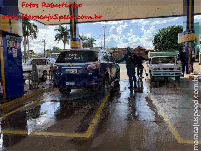Maracaju: Polícia Militar cumpre mandado de prisão e prende homem, enquanto abastecia veículo em posto de combustível
