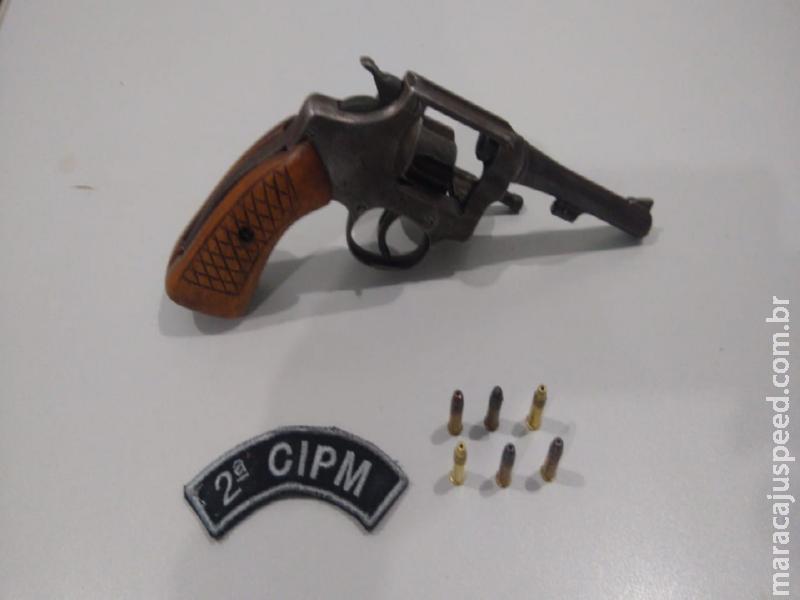 Maracaju: Polícia Militar prende homem em flagrante por disparos de arma de fogo e posse irregular de arma de fogo de uso permitido