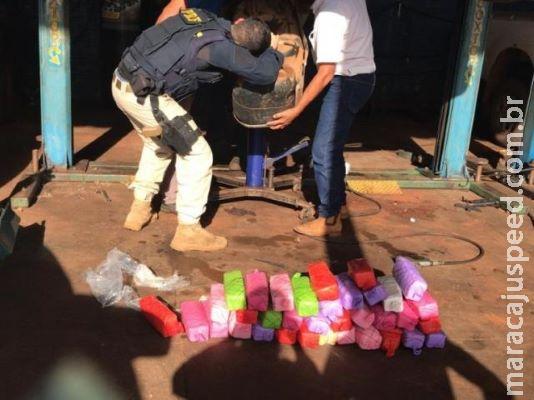 Traficante é preso com R$ 1 milhão em cocaína que levaria ao Paraná