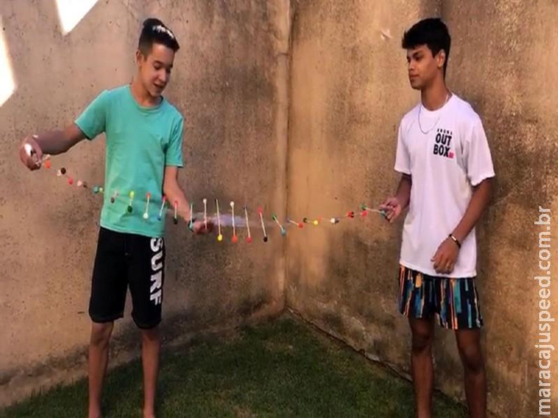 Alunos da Escola do Sesi de Maracaju constroem máquina de ondas durante aula online