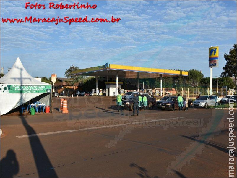 Maracaju: Barreiras sanitárias implantadas para conter o vírus COVID-19, já estão funcionando e em menos de duas horas abordam mais de 400 veículos