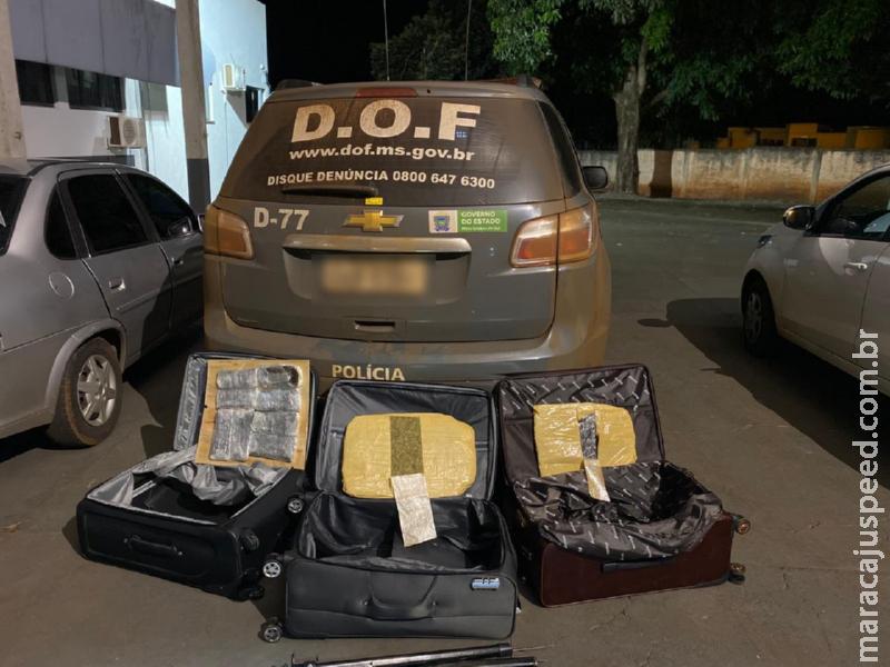 Distrito Vista Alegre: Casal que seguia com droga para Goiânia foi preso pelo DOF durante a Operação Hórus