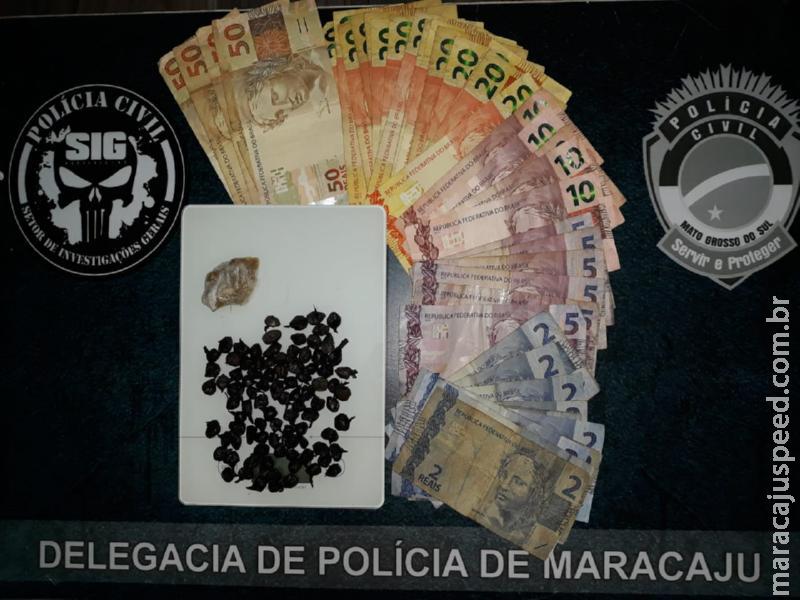 """Maracaju: Polícia Civil cumpre mandado de busca e apreensão e """"fecha"""" ponto de venda de drogas no Conjunto Ema Rigo"""