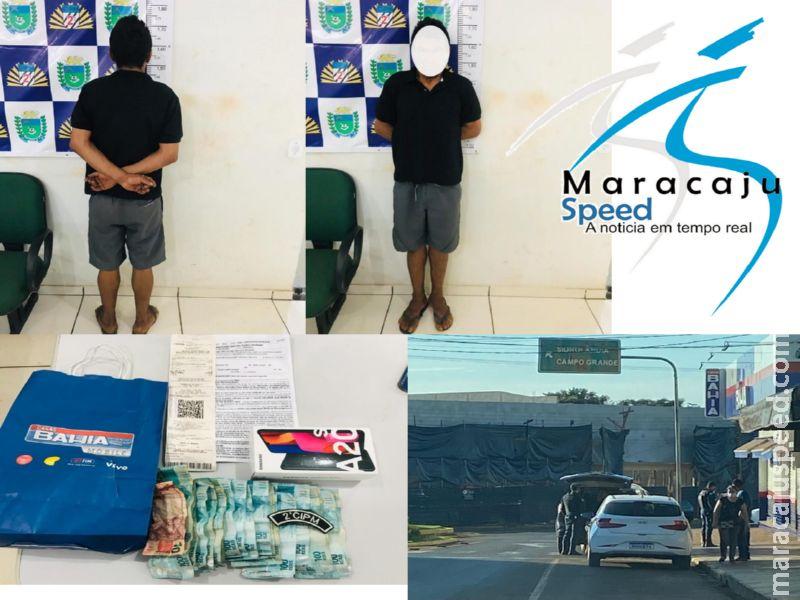 Maracaju: Polícia Militar prende autor de roubo em flagrante. Autor invadiu residência, jogou idoso de 86 anos no chão e roubou uma quantia aproximada de 4 mil reais