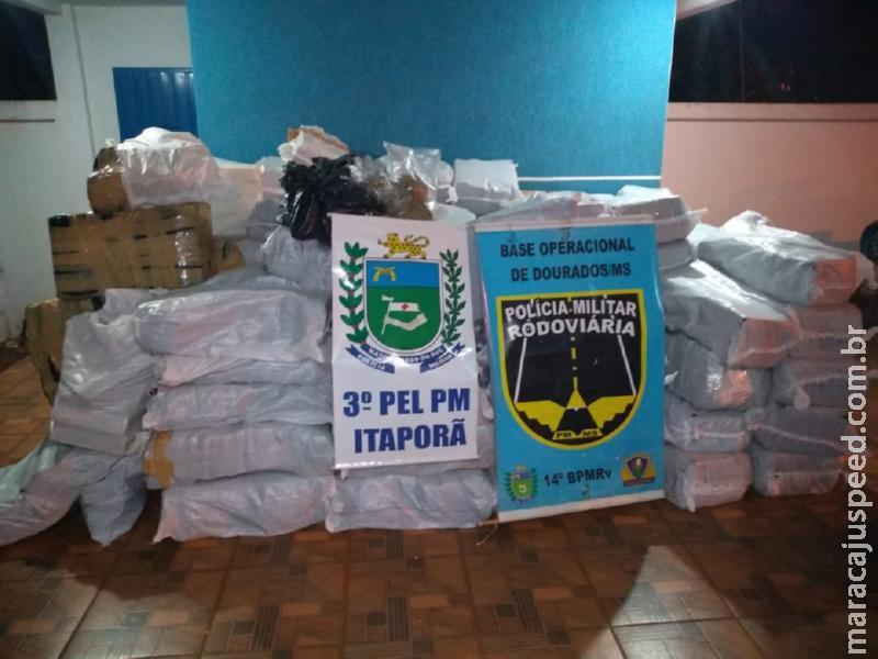 Polícia Militar Rodoviária apreende quase 5 toneladas de droga nesta madrugada. Droga estava em caminhão