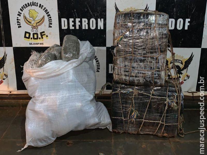 Policiais do DOF prendem homens que transportavam 70 kg de maconha de bicicleta