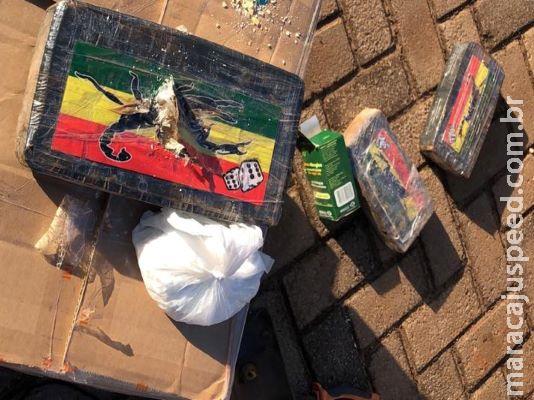Ao avistar viatura, motorista abandona carro com cocaína foge a pé