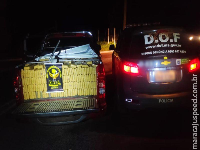 DOF recupera camionete furtada carregada com mais de uma tonelada de maconha durante a Operação Hórus