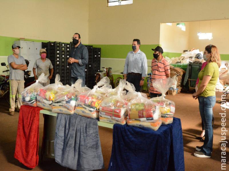 Famílias da Associação Recicla Maracaju recebem cestas básicas doadas pelo MPE e parceiros