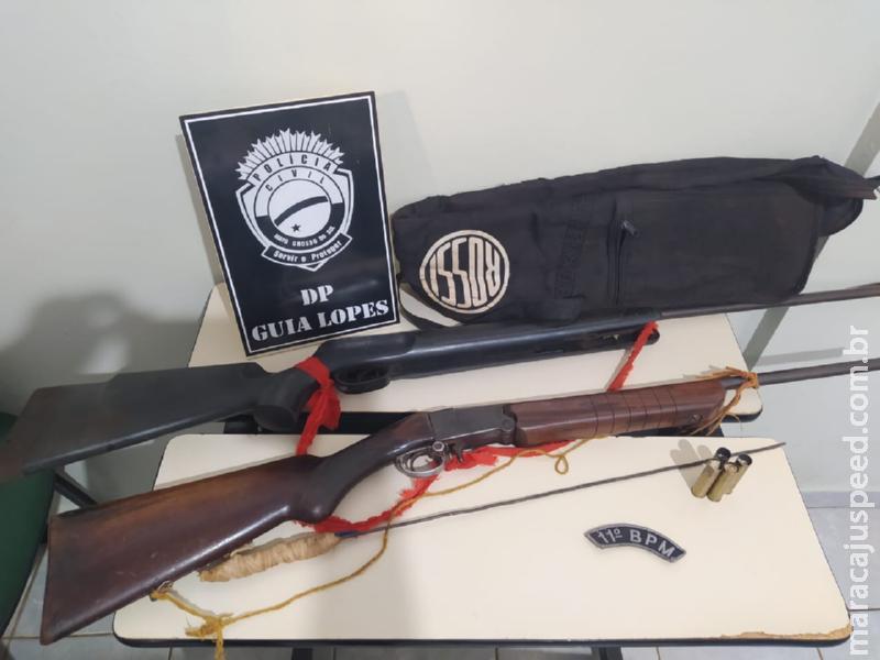 Guia Lopes da Laguna: Polícias Civil e Militar apreendem armas de fogo em aldeia indígena em Maracaju