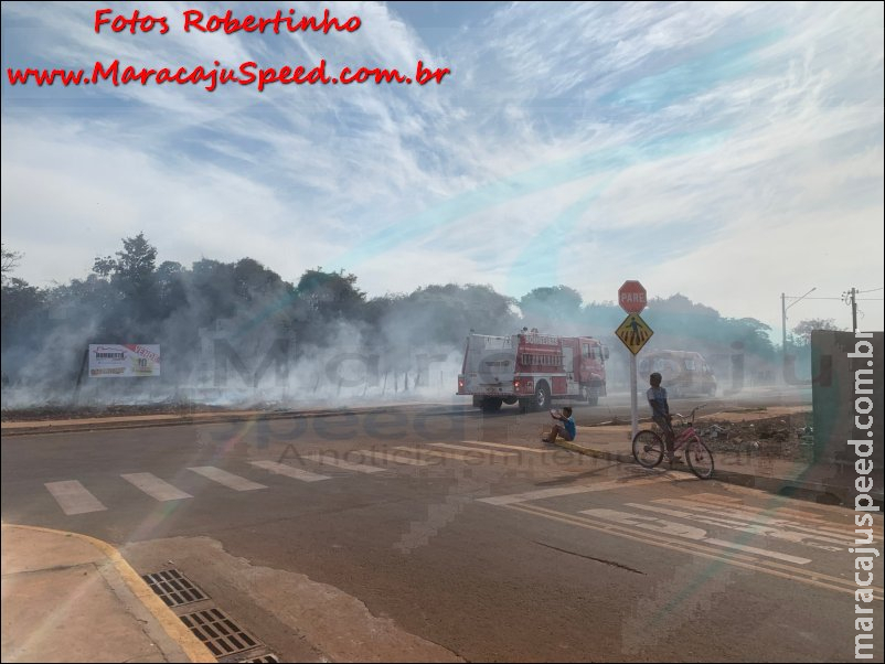 Maracaju: Bombeiros atendem ocorrência de incêndio criminoso no Conjunto Geazone
