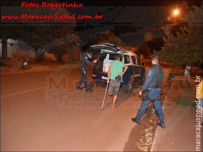 Maracaju: Polícia Militar prende homem em flagrante, após autor quebrar cadeira nas costas de sua mãe de 69 anos idade. Idosa possui problemas de fala e mobilidade devido a ocorrência de AVC