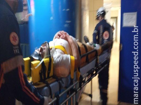 Motociclista é encaminhado para HV após acidente entre moto e carro em Dourados