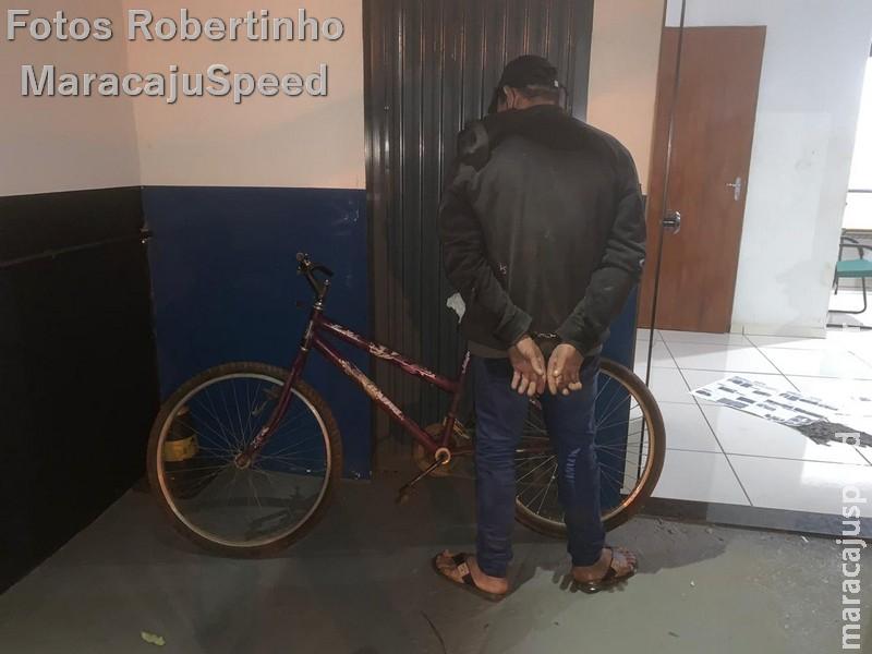 Maracaju: Polícia Militar cumpre mandado de prisão e identifica autor de furtos ocorrido nos últimos dias. Autor confessou aos PMs ter praticado diversos furtos a vários comércios