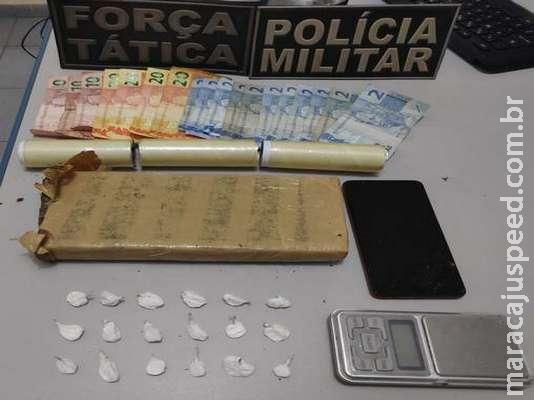 Dois são pegos vendendo cocaína e maconha no centro de Batayporã