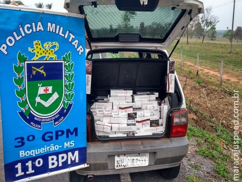 Idoso é flagrado transportando cigarro contrabandeado em Boqueirão