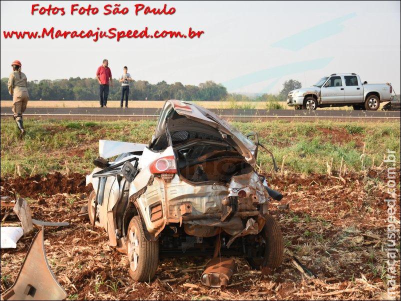 Maracaju: Bombeiros atendem grave acidente na BR-267, onde uma pessoa morreu e outra ficou ferida com fratura
