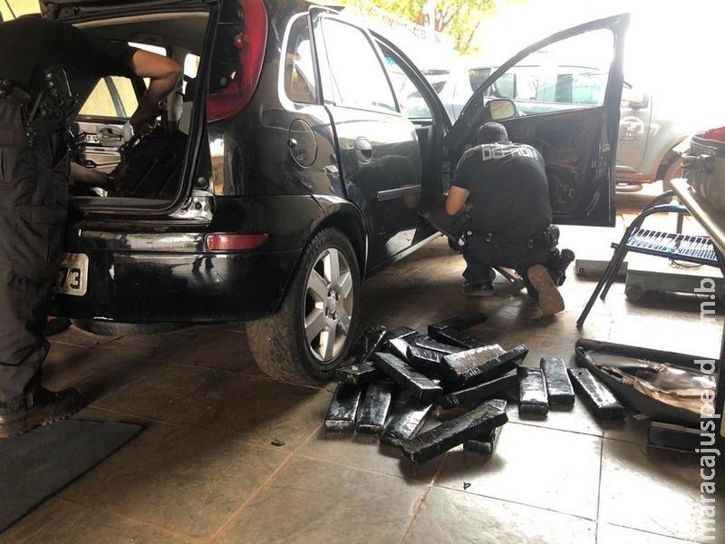 Polícia apreende veículo recheado de maconha e prende condutor
