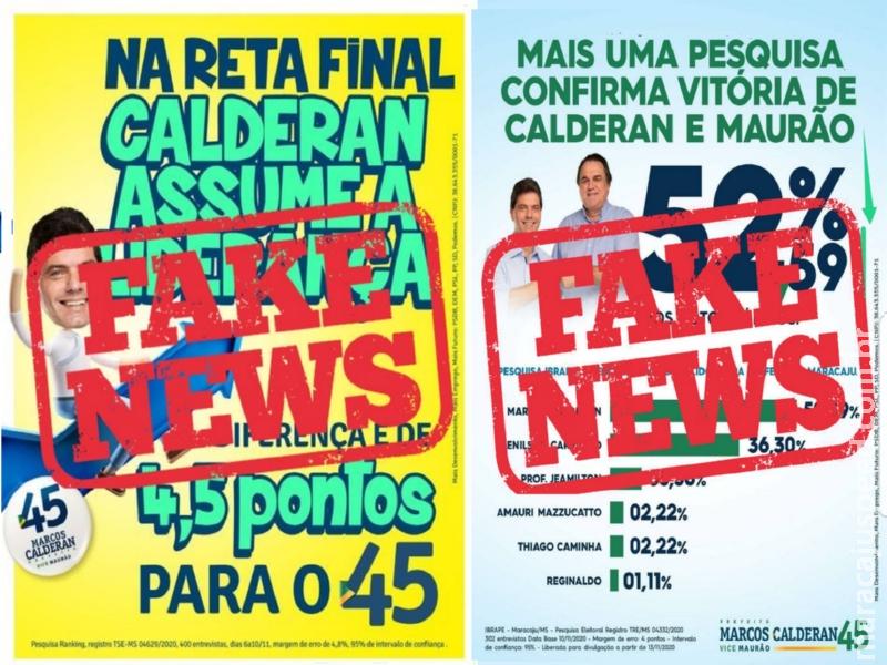 Maracaju: Justiça considerou irregular pesquisas que o candidato José Marcos Calderan se destaca como primeiro colocado (Pesquisa Fake News)