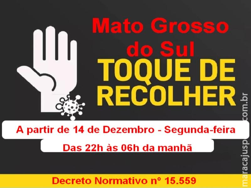 Mato Grosso do Sul: Governador Reinaldo Azambuja decreta toque de recolher em todo o Estado por 15 dias, em razão dos números crescentes de infectados COVID-19
