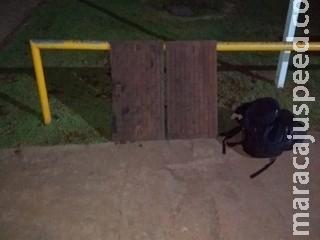 Carpinteiro é preso em flagrante ao furtar tampas de sistema subterrâneo em Campo Grande