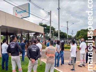 Energisa emite nota a imprensa, após eletricitários fazerem protesto contra Energisa e cogitarem greve por reajuste salarial