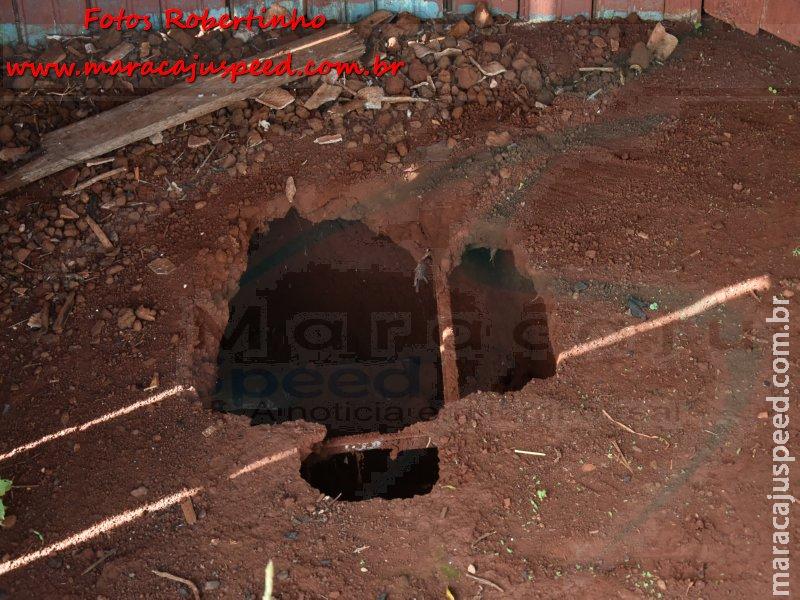 Maracaju: Corpo de homem assassinado a cerca de um ano é encontrado enterrado em fossa séptica, a três metros de profundidade