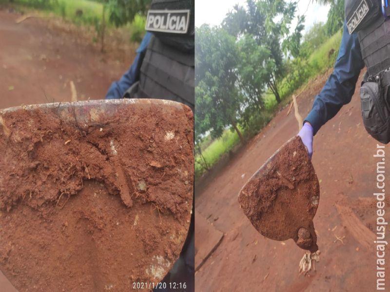 Maracaju: Netos menores de idade agridem avô de 61 anos de idade com socos chutes e enxadada
