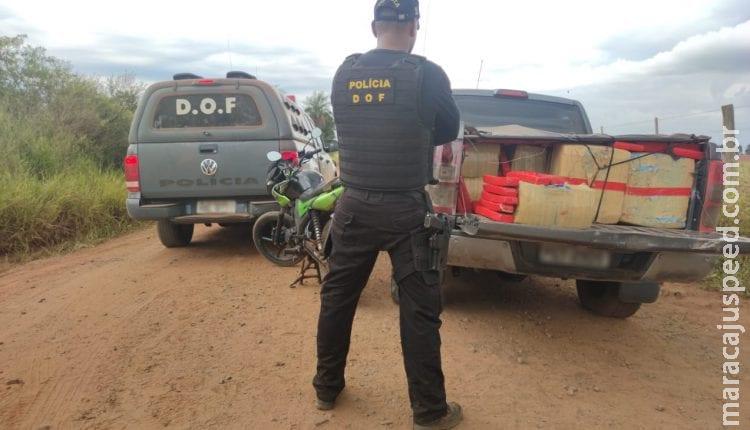Adolescente é flagrado na MS-156 com quase duas toneladas de droga em carro roubado