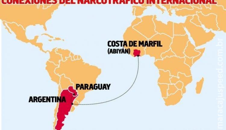 Cocaína paraguaia avaliada em 46 milhões de dólares é interceptada na África