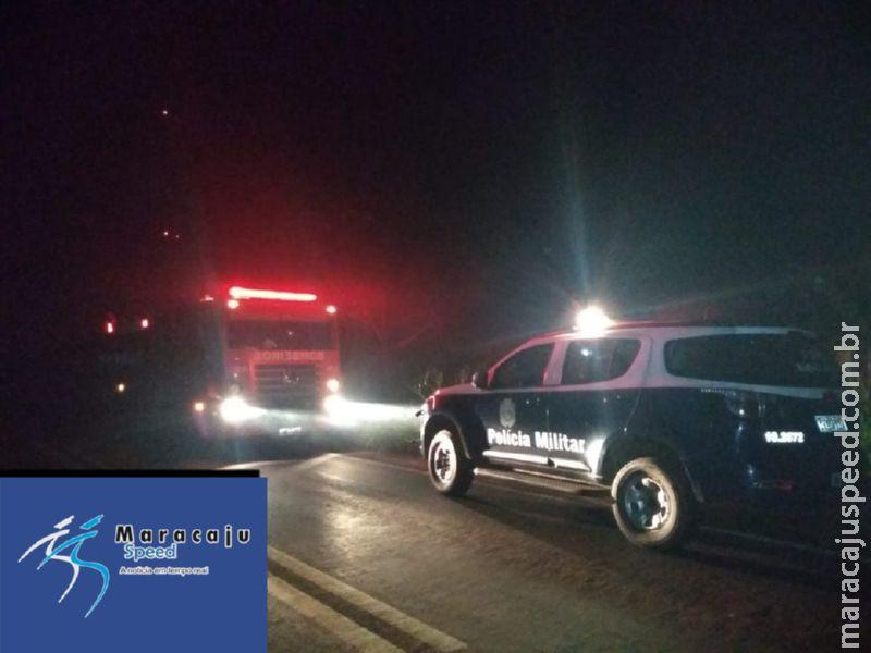 """Maracaju: Polícia Militar e Corpo de Bombeiros atendem ocorrência, onde três homens ameaçaram matar homem que supostamente denunciou a localização do corpo de """"Raquel"""""""