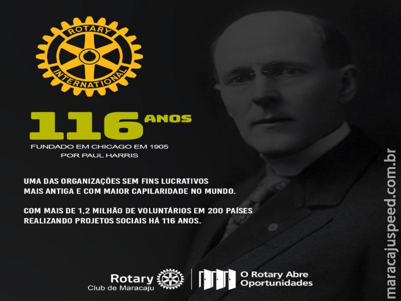 Rotary Club completa 116 anos de fundação, e Distrito Maracaju comemora com inúmeros trabalhos realizados a comunidade