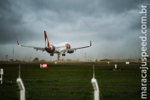 Apesar de chance de chuva, Aeroporto de Campo Grande funciona normalmente nesta terça-feira