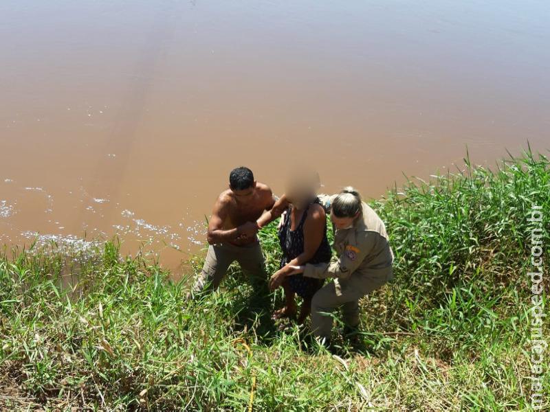 Fátima do Sul: Em tentativa de suicídio, mulher salta da ponte no Rio Dourados e é salva por Bombeiro