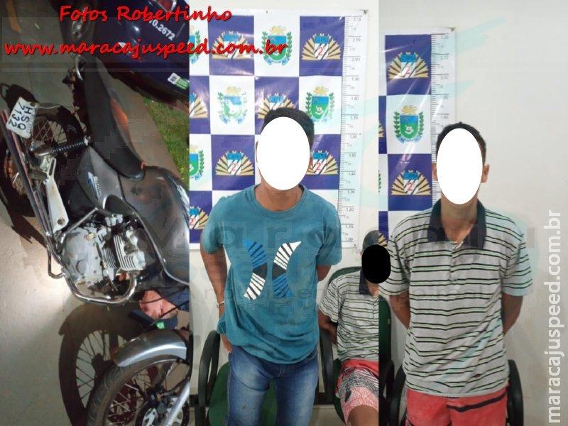 Maracaju: Dupla que se exibia empinando motocicleta, são perseguidos em acompanhamento tático da PM, e ambos são detidos