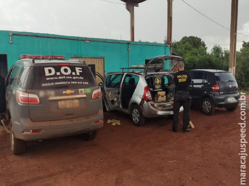 Veículo que seguia para Maracaju com mais de 100 quilos de maconha foi apreendido pelo DOF durante a Operação Hórus