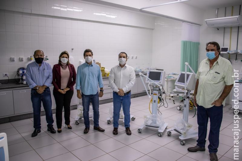 ABR 30 30 ABR 2021 SAÚDE Prefeitura entrega mais quatro respiradores para o Hospital Soriano Corrêa da Silva GOSTEI