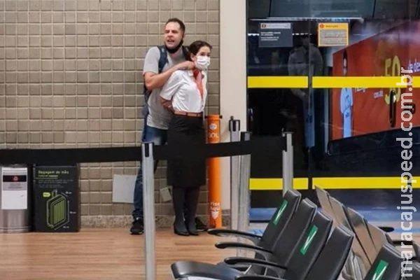 Homem faz mulher refém em aeroporto e exige presença da Polícia Federal
