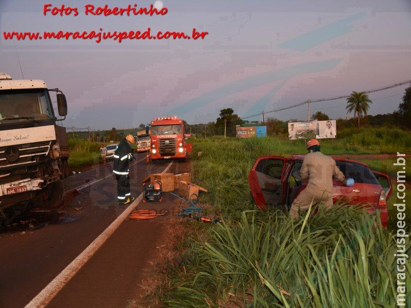 Maracaju: Jovem condutor que foi retirado com vida de ferragens de veículo, faleceu em unidade médica na capital Campo Grande