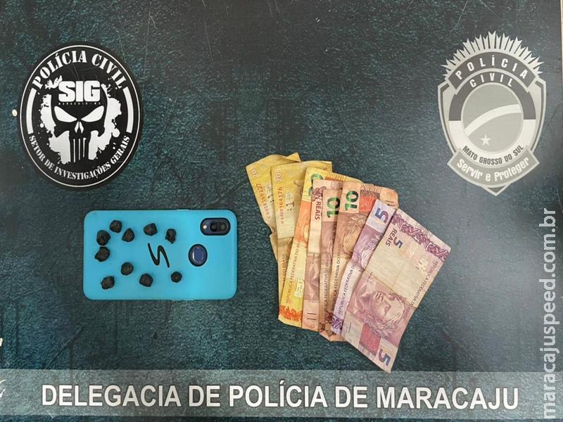 Maracaju: Polícia Civil prende em flagrante indivíduo por tráfico de drogas