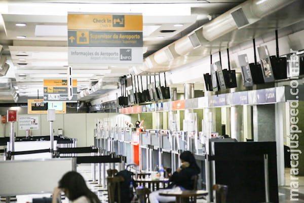 Aeroporto de Campo Grande tem previstos 4 voos para esta terça-feira