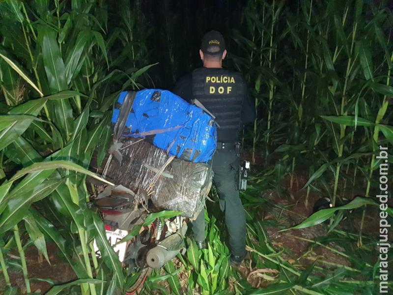 Maracaju: Motocicleta furtada em Campo Grande foi recuperada pelo DOF carregada com maconha