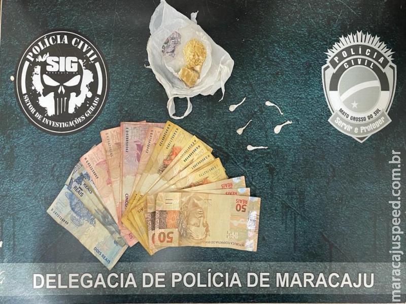 Maracaju: Polícia Civil fecha boca de fumo na Vila Adrien e prende casal em flagrante por Tráfico de Drogas