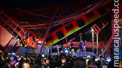 Queda de metrô deixa 23 mortos e dezenas de feridos no México