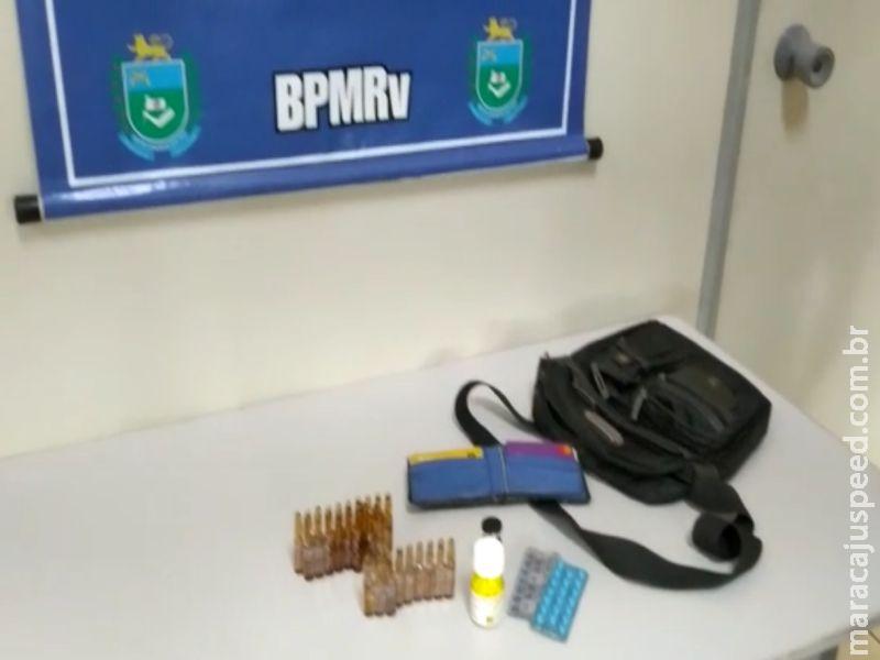 Vista Alegre: PMRv apreende contrabando de anabolizantes
