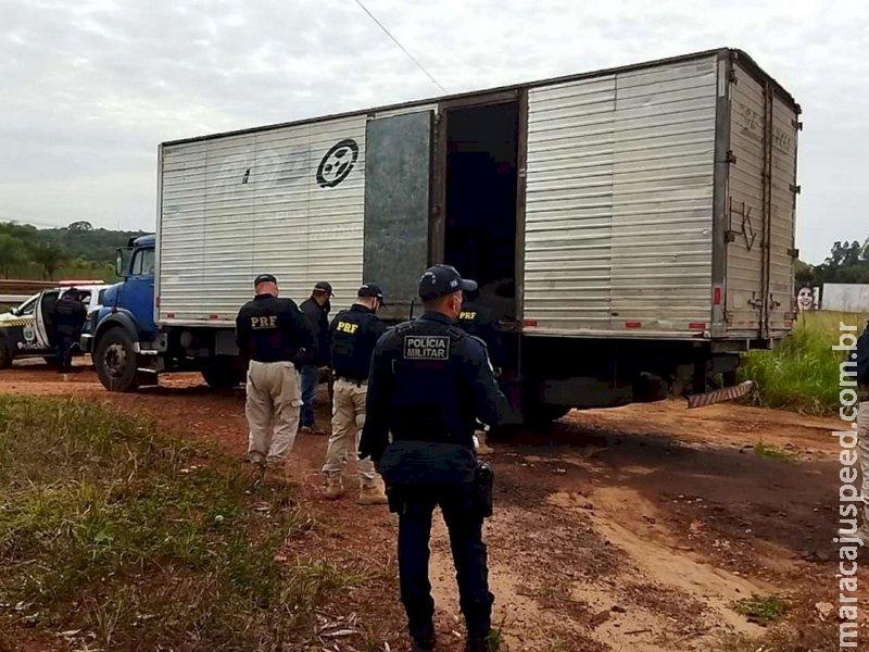 """Caminhão de motorista vítima do """"falso frete"""" passa por perícia"""