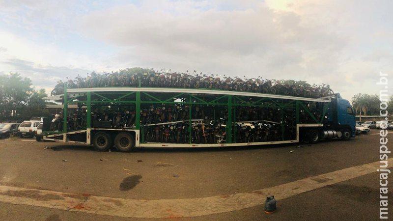 Com 430 motos leiloadas, Defurv ainda tem mais 111 aguardando na fila do pátio