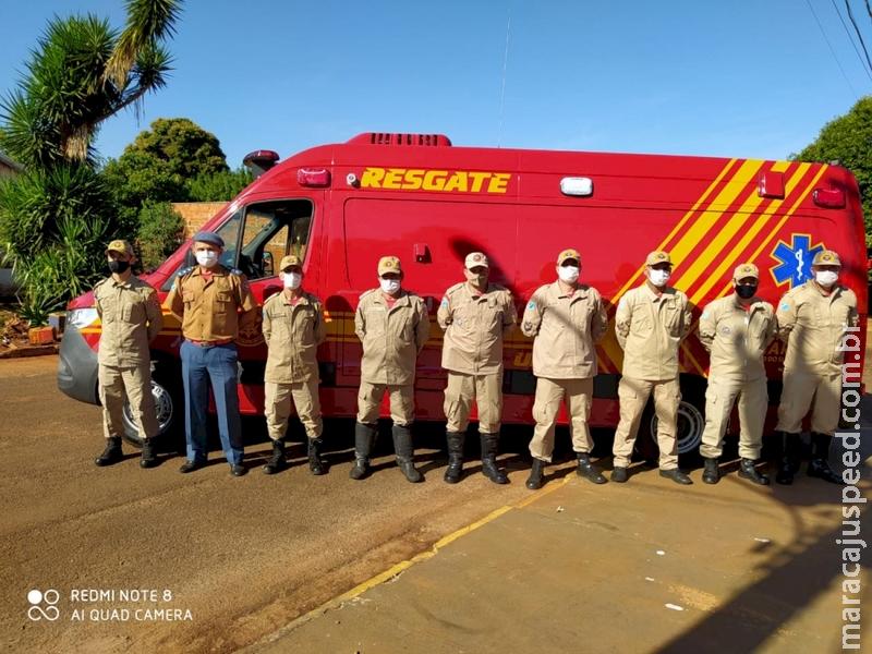 Corpo de Bombeiros Militar em Fátima do Sul recebe uma nova unidade de resgate