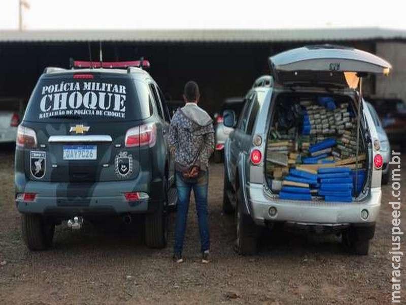 Em perseguição de cinema, Choque atira em pneus e prende traficantes em Campo Grande