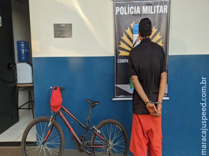Maracaju: Polícia Militar recupera bicicleta furtada de criança de apenas 7 anos de idade, e prende autor de furto e detêm compradora por receptação de objeto furtado